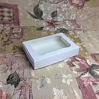 Коробка для пряников Белая с окном  100*150*30