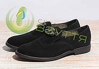 Туфли замшевые  женские  Salina 858 ч/з  36-41 размеры , фото 1