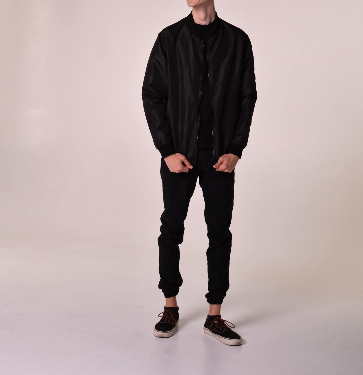Бомбер мужской   куртка осенняя   весенняя черный  продажа ada681ed3d2d6