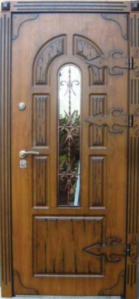 """Входная дверь """"Портала"""" (серия Премиум) ― модель Прага Vinorit (3-D, патина)"""