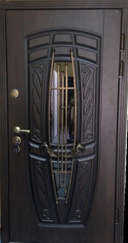 """Входная дверь """"Портала"""" (Premium) ― Монако АМ18 Vinorit*2 (3-D, патина)"""