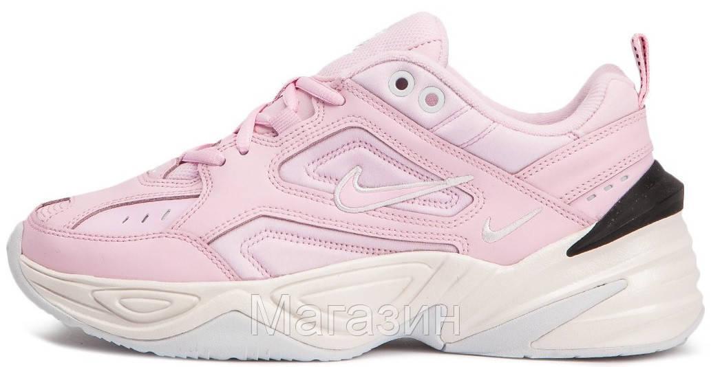 Женские кроссовки Nike M2K Tekno Pink Найк Текно розовые