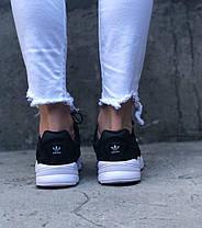 Женские кроссовки Adidas Falcon Black Адидас черные, фото 2