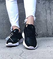 Женские кроссовки Adidas Falcon Black Адидас черные, фото 3
