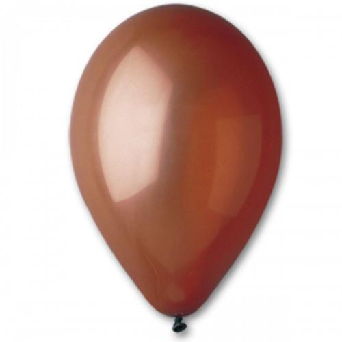 """Воздушные шары Gemar 10""""/48 пастель Коричневый, 100 шт (G90)"""