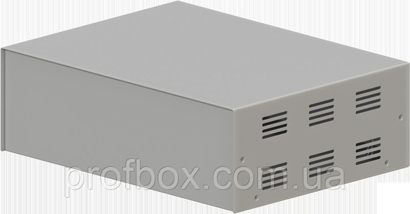 Корпус металлический, модель  MB-40ECU-W304H100L230, RAL9006(Metallic textured), металик муар