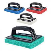 Мийка-терка абразивний з ручкою J00544 пластик, 15 * 9 см, серветки, серветки для прибирання, господарські товари, ганчірку, серветка з мікрофібри