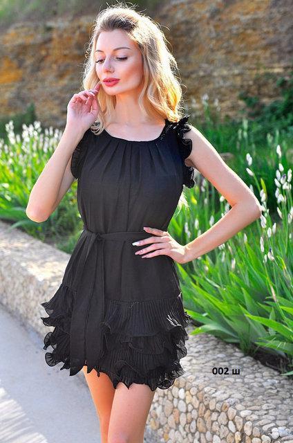 Платье летнее с рюшей, модель 002 ш