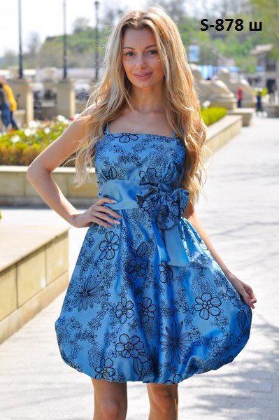 Платье с открытыми плечами, модель S-878 ш