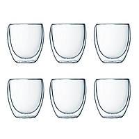 Набор стаканов с двойными стенками Bodum Pavina  0,25 л., 6 шт (4558-10-12)