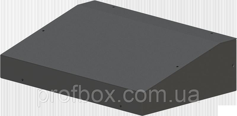 Металлический корпус для РЭА с наклонной панелью, модель MB-24ECU-W330H90L220, RAL9005(Black textured)