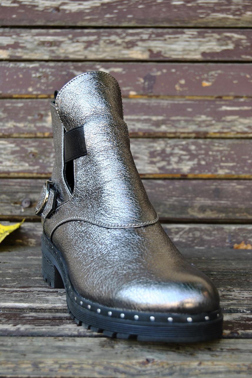 778b5a969d7c Женские осенние ботинки никель
