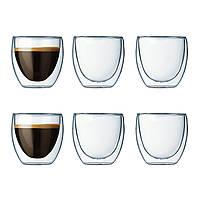 Набор стаканов с двойными стенками Bodum Pavina  0,08 л., 6 шт (4557-10-12)