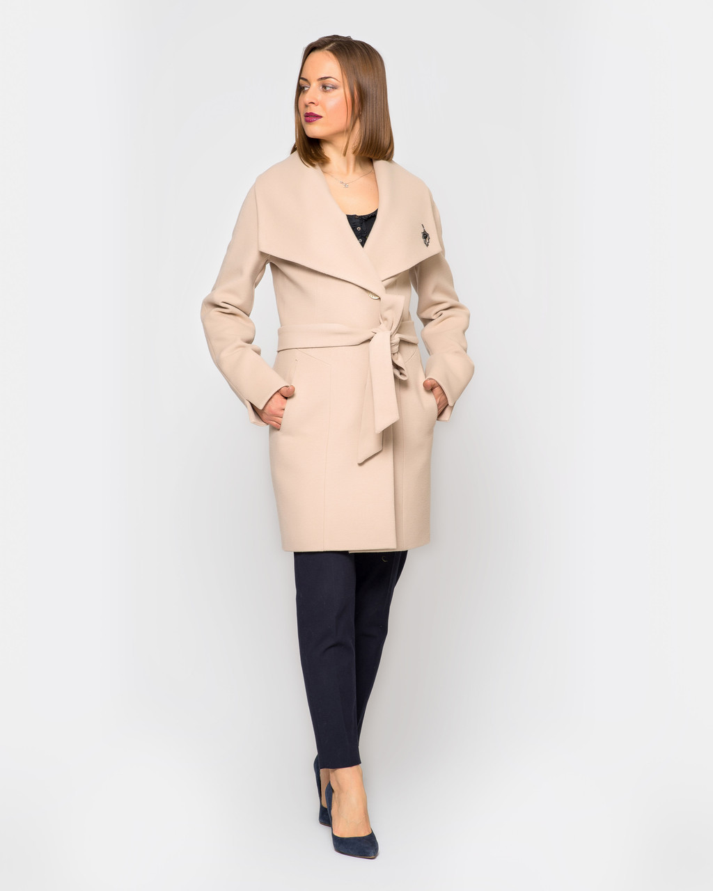 Стильное пальто Леди, разные цвета