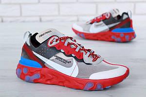 Кроссовки Nike Undercover Jun Tadahashi Grey Red Blue