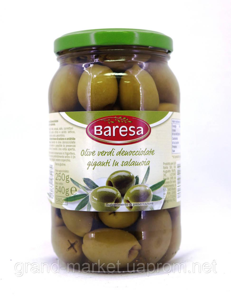 Оливки зеленые Baresa без косточки 540 г