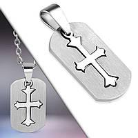 Кулон-пазл серебристый крест 316 Steel, фото 1