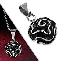 Кулон черная роза 316 Steel, фото 1