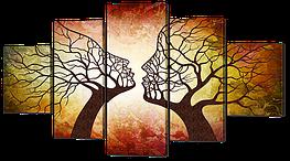"""Модульная картина """"Деревья в стремлении к поцелую"""""""