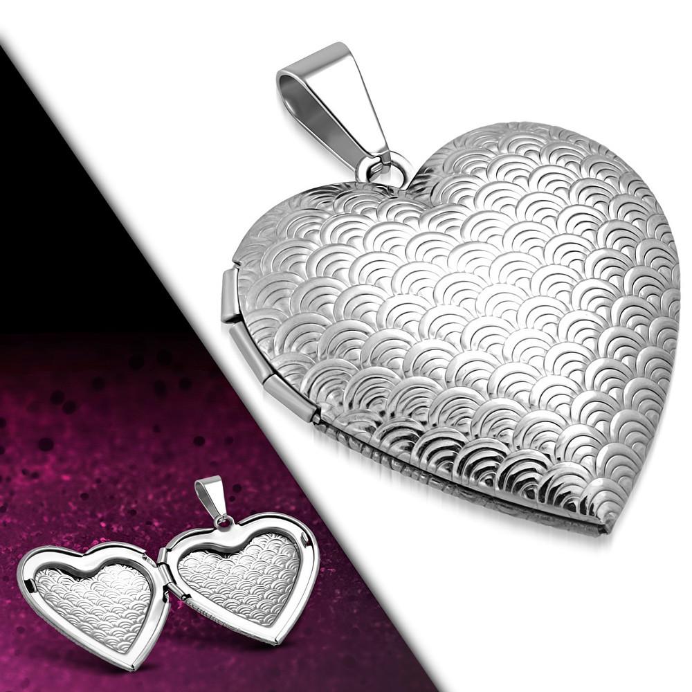 Медальон сердечко 316 Steel