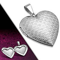 Медальон сердечко 316 Steel, фото 1
