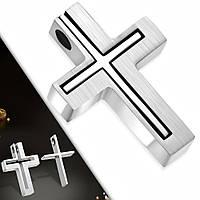Кулон двойной крест пазл 316 Steel, фото 1