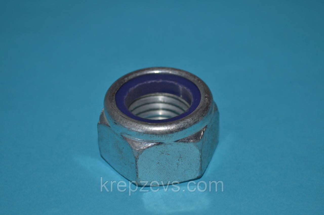 Гайка самозажимная М24 DIN 985, ISO 10511 класс прочности 8.0, 10.0