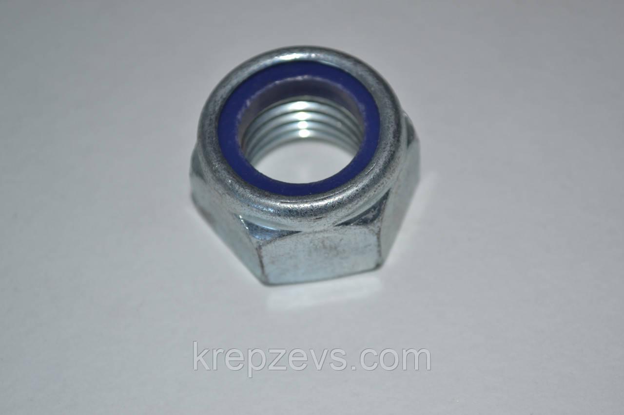Гайка М22 с нейлоновым кольцом DIN 985, ISO 10511 класс прочности 8.0, 10.0