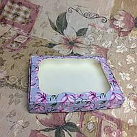 Коробка для пряников Магнолия с окном 150*200*30, фото 1