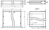 Корпус металевий Rack 1U, модель MB-1200vS (Ш483(432) Г202 В44) чорний, RAL9005(Black textured), фото 3