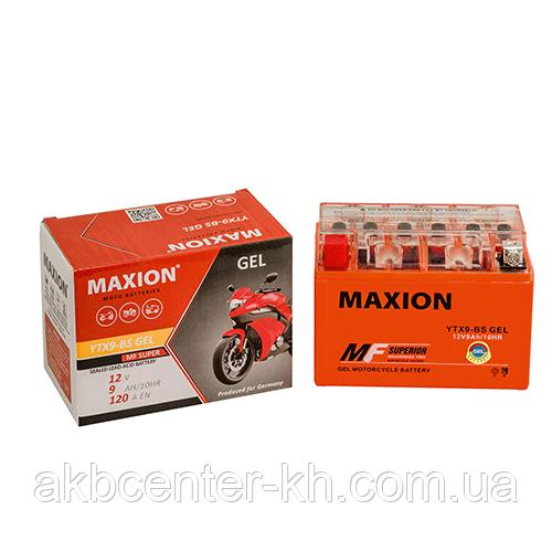 Мото аккумулятор GEL MAXION YTX 9-BS (12V, 9A)