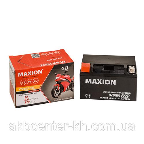 Мото аккумулятор GEL MAXION YTZ 10S (12V, 10A)