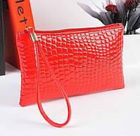 Клатч-кошелёк женский, красный