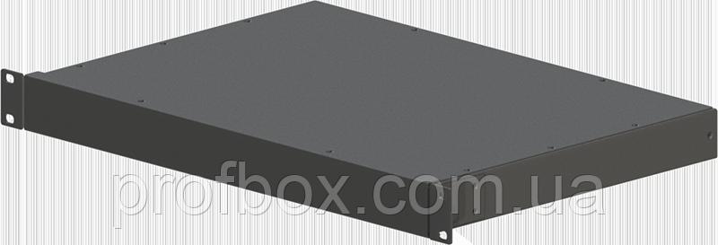 Корпус металевий Rack 1U, модель MB-1310SP (Ш483(432) Г312 В44) чорний, RAL9005(Black textured)