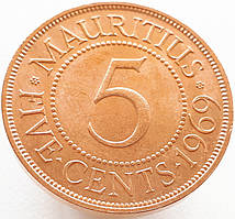 Британский Маврикий 5 центов 1969