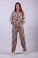 Пижама женская махровая теплая 44-56р.
