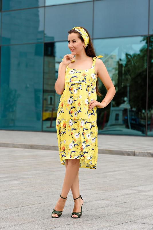 b567912f4c02 ... фото Шелковое летнее платье для беременных и кормящих мам с повязкой  42-48 р, ...