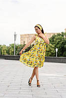 Шелковое летнее платье для беременных и кормящих мам с повязкой 42-48 р