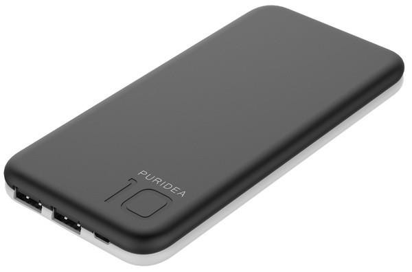 Портативное зарядное устройство Puridea S2 10000mAh Li-Pol (Rubber Black - White)