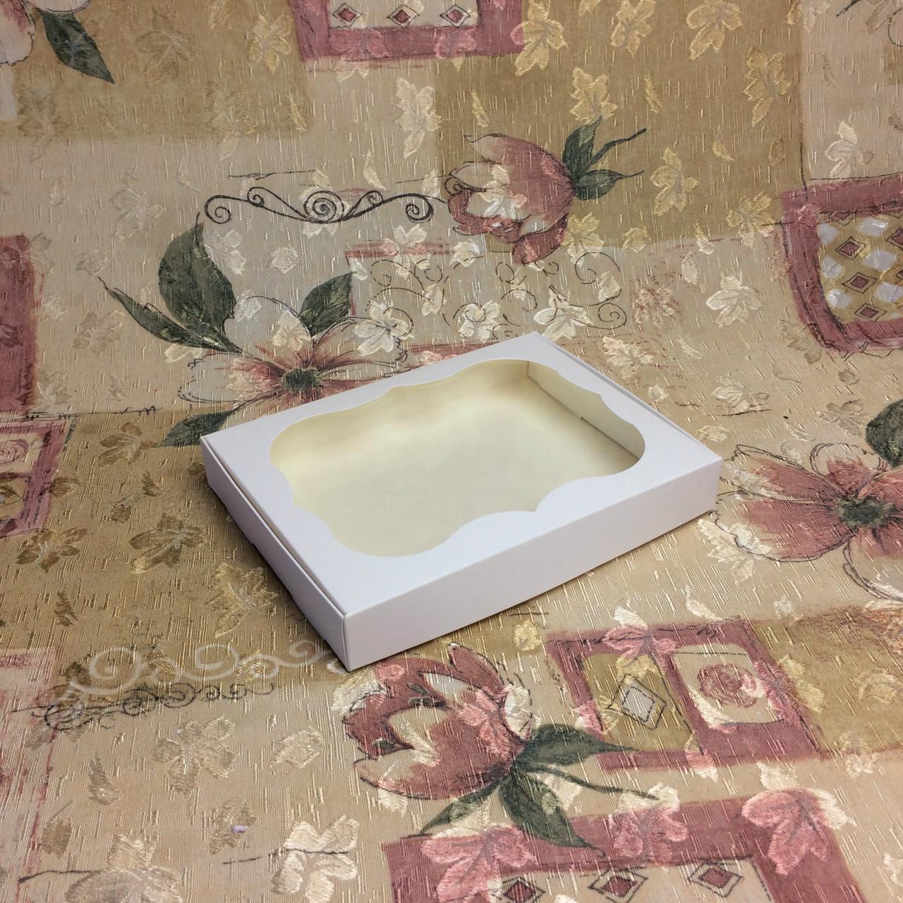 Коробка для пряников / 150х200х30 мм / Белая / окно-обычн