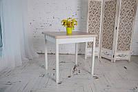 Стол обеденый раскладной Гранди 70 см х 80 см (140х80) с деревянными ножками прямыми, фото 1