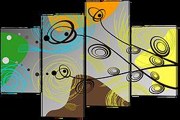 Модульная картина Абстракция линии и фигуры