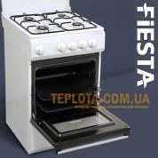 Газовая плита FIESTA Q55-W100 (белая, 4 конфорки)