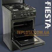 Газовая плита FIESTA Q55-B100 (черная, 4 конфорки)