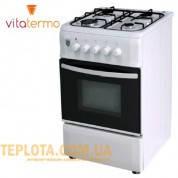 Газовая плита VitaTermo G 560 (белая, 4 конфорки)