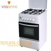 Газовая плита VitaTermo G 561 (белая, 4 конфорки)