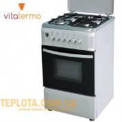 Газовая плита VitaTermo G 562 (нержавейка, 4 конфорки)