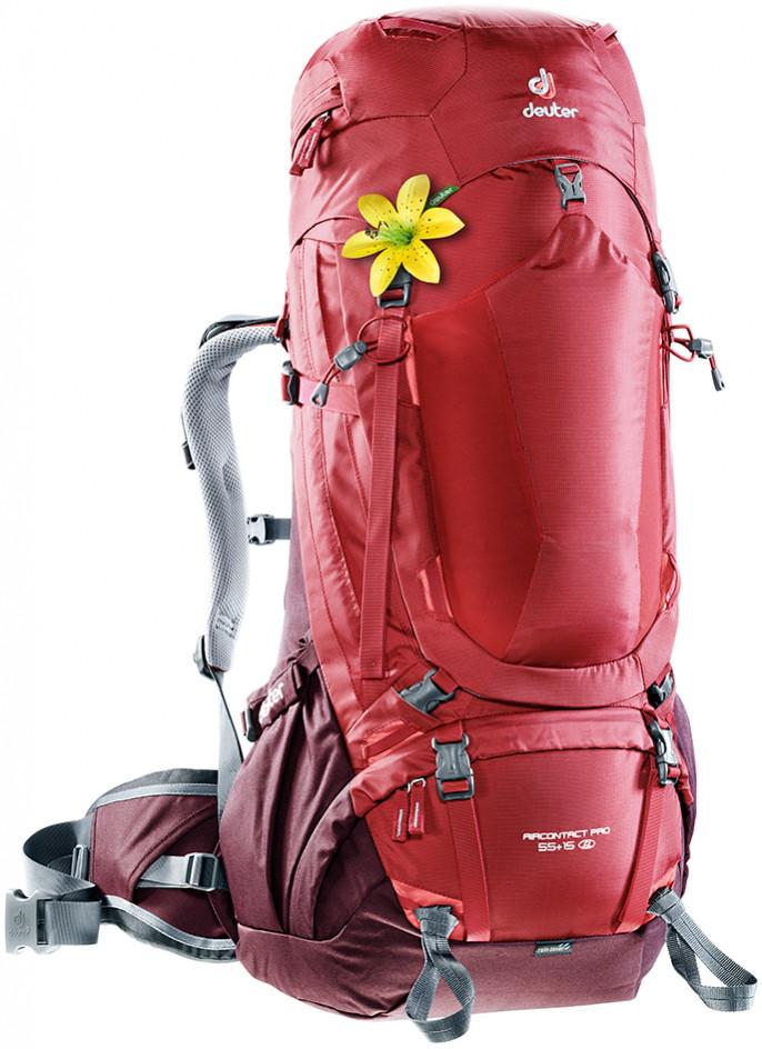 Рюкзак туристичний DEUTER Aircontact PRO, 3330017 5005, 55+15 л, SL, червоний