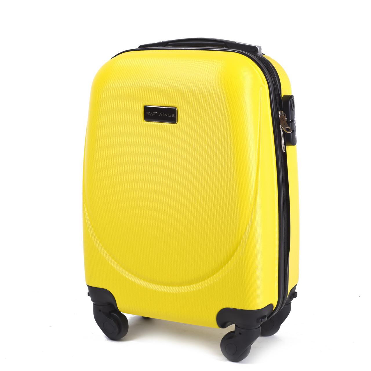 Чемодан Wings 310 малый на 4-х колесах Yellow