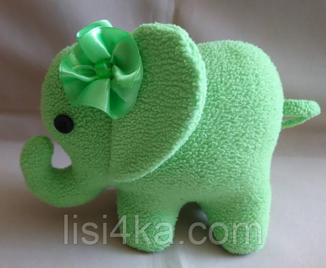 Интерьерный текстильный салатовый слоник